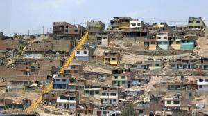Shacks on outskirts of Lima