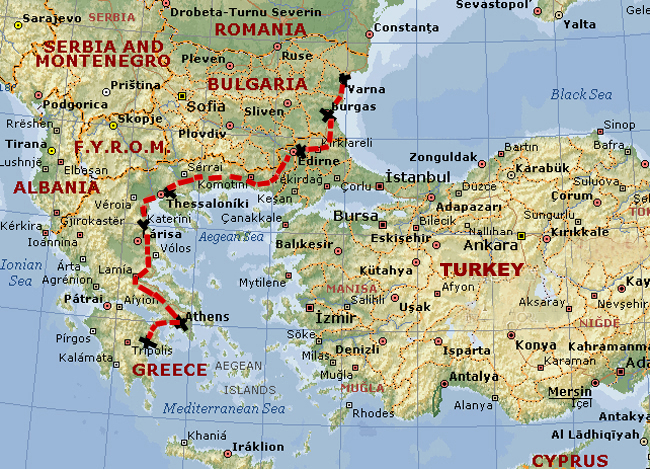 Map Greek Islands And Cyprus