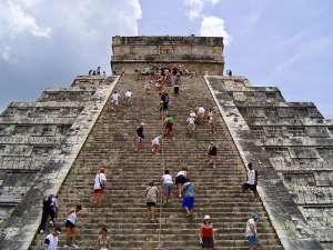 Temple of Kukulkan, Chichen Itza, when you could still climb to the top, Source: yucatan-holidays.com