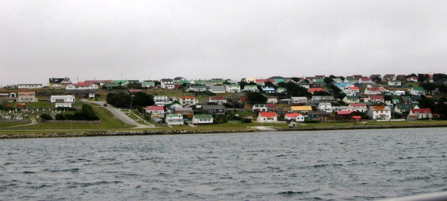 The town of Stanley from our tender