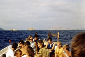 On the fishing boat en route to the island of Hydra