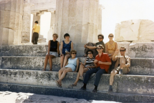 Our group at the Parthenon
