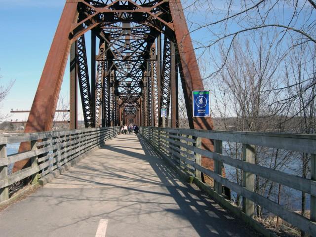 "Old train bridge converted to a very popular ""Walking Bridge"""
