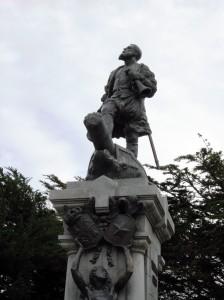 Ferdinand Magellan in Punta Arenas' main square