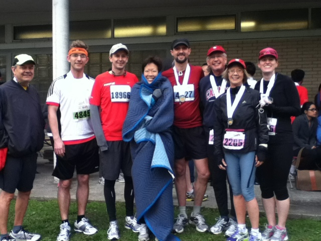 Cold, but happy, finishers in Toronto