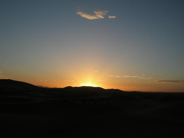 Sunset on the Erg Chebbi Dunes
