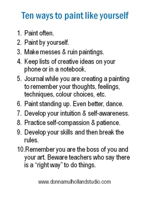 https://www.donnamulhollandstudio.com/blog/ten-ways-to-paint-like-yourself